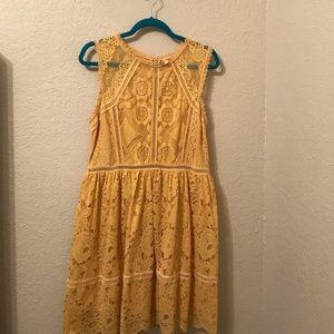 Cute Eyelet Yellow Dress.